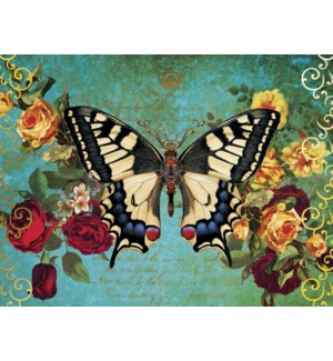 ED/Butterfly & roses