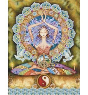 ED/Mystical woman in yoga pose