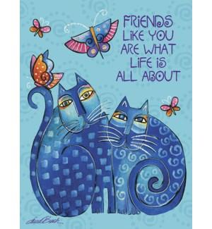 FR/Blue Cats with butterflies