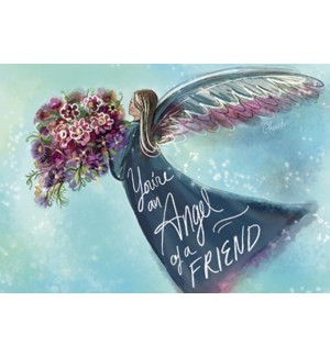 FR/Angel holding bouquet