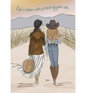 FR/Cowgirls holding hands
