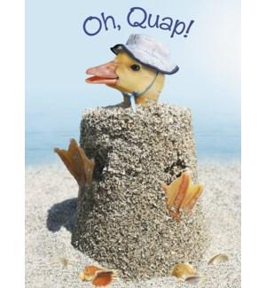 GW/Duck stuck in sandcastle
