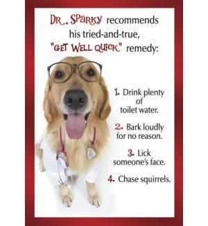 GW/Dog wearing stethoscope