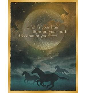 BL/Horses beneath full moon