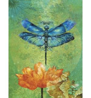 EN/Dragonfly & flower