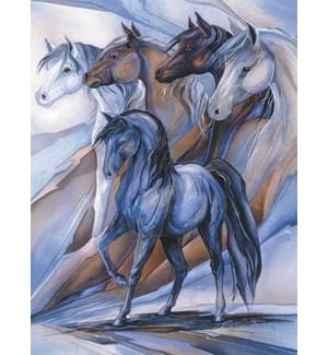 EN/Horses whimsy background