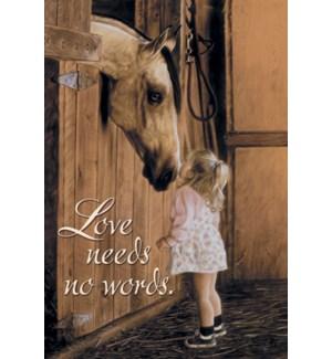 MAGNET/Girl petting horse