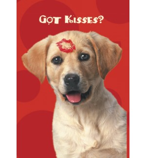 MAGNET/Dog with lip kiss