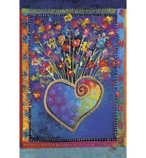 MAGNET/Heart with flowers