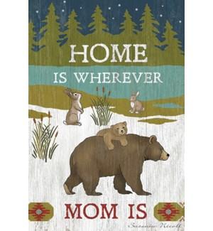 MAGNET/Mama bear with cub