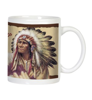 MUG/Chief wearing headress