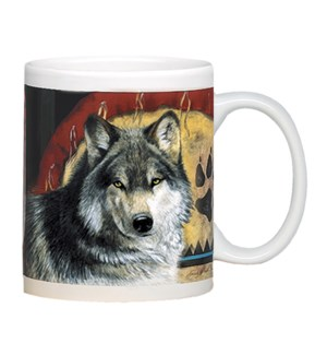 MUG/Wolf pair of feathers