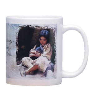 MUG/Child holding animal