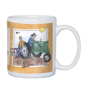 MUG/Two ranchers on a tractor