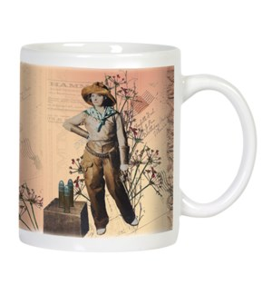 MUG/Cowgirl with gun