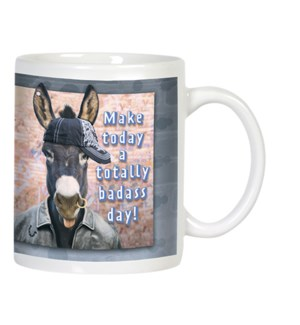 MUG/Donkey in baseball hat