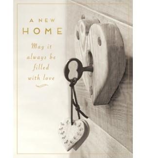 NH/Key in heart shaped lock