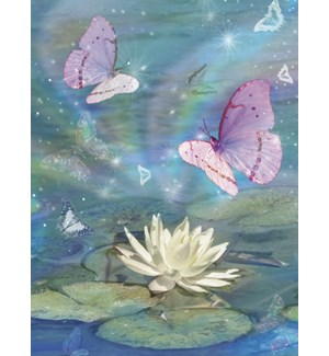 SY/White Lotus and butterflies