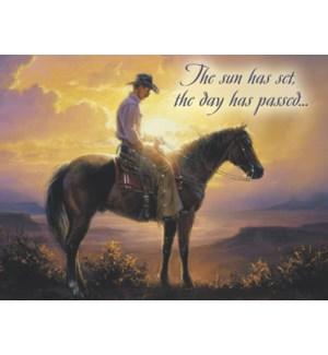SY/Lone cowboy at top of ridge