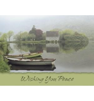 SY/House & boats on lake