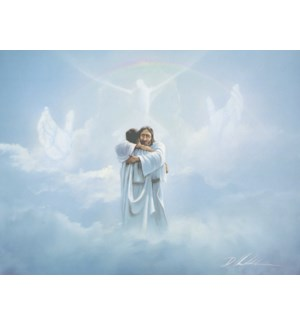 SY/Jesus in clouds embracing