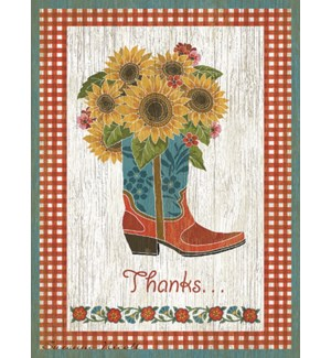 TY/Flowers in cowboy boots