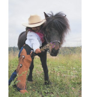 TY/Child cowgirl with pony