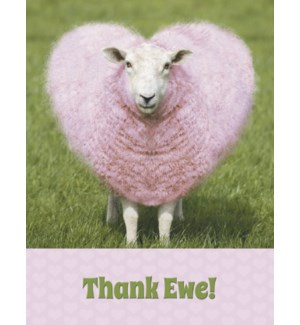 TY/Heart shaped pink wool