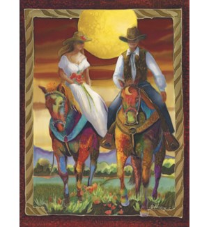 WD/Couple on horseback