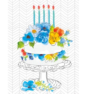 BD/Birthday cake with flowers