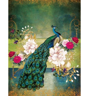 BD/Peacock with flowers