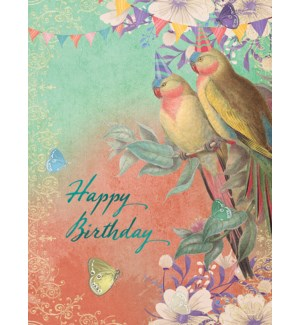 BD/Two parrots with party hats
