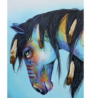 BD/Painted horse bowing head