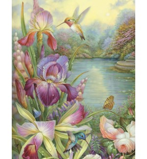 BD/Hummingbirds with lilies