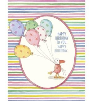 BD/Bird holding balloons