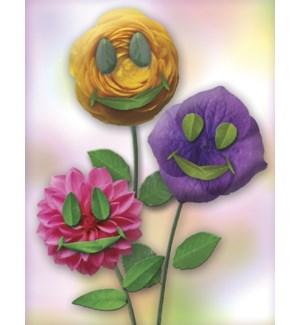BL/Three smiling flowers