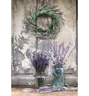 BL/Lavender wreath hanging