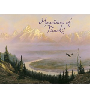 NOTECARD/Mountain scene