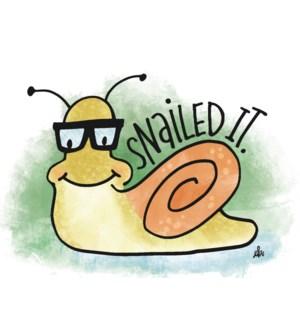 CO/Cute Snail Wearing Glasses