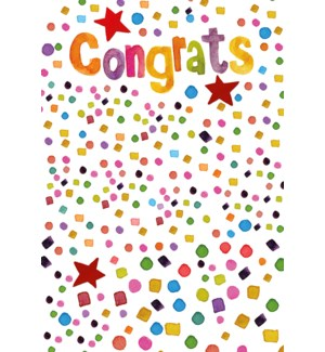 """CO/Confetti with """"Congrats"""""""