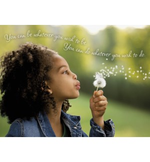 EN/Girl blowing dandelion