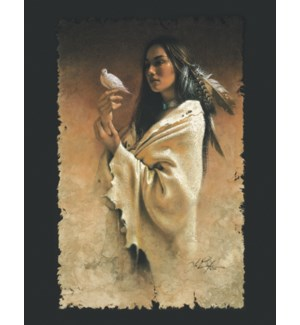 ENC/Woman holding dove