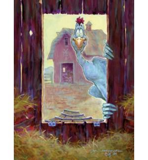 FR/Chicken Poking Head