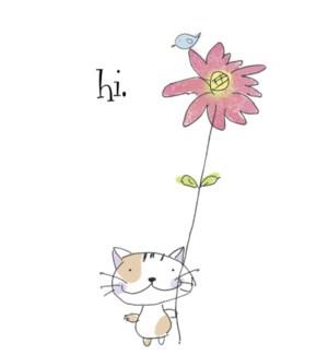 FR/Cat with stemmed flower