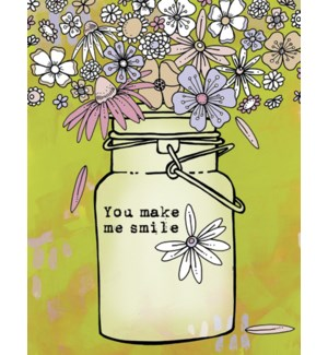 FR/Jar filled with flowers