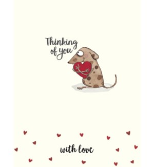 TOY/Little dog holding heart