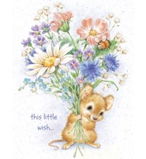 GW/Mouse holds bouquet