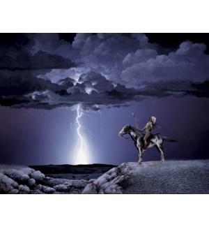 ENC/Indian on horse, lightning