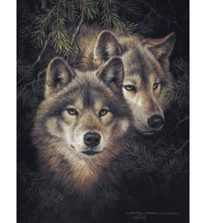 RO/Wolf heads w/dark bkgd