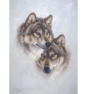 RO/Pair of wolf heads